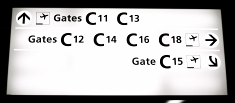 Fligths Gates in London Heathrow Airport