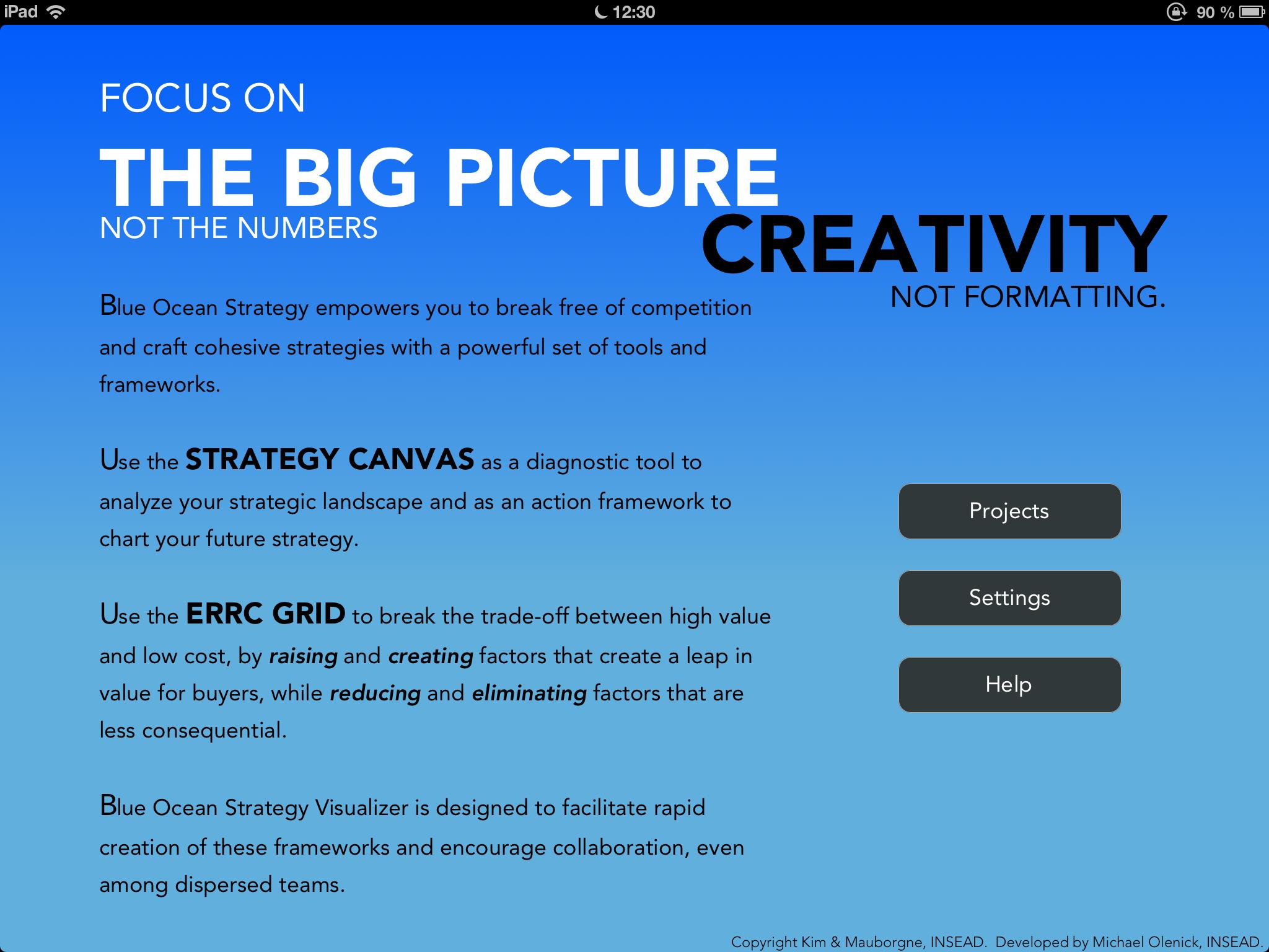 IPhone APP Blue Ocean Strategy