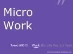 Micro Work