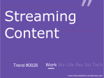 Streaming Content