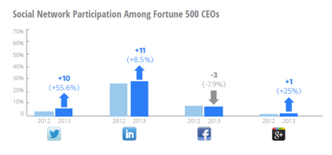 Social Network Participation Among Forntune 500 CEOs