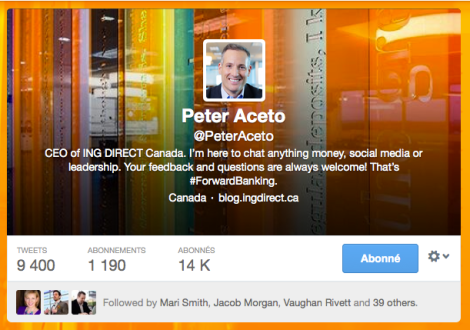 Peter Aceto CEO Tangerine ING Direct Canada