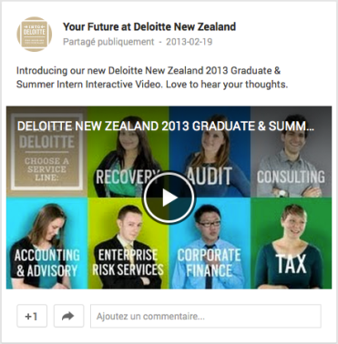 Your Future at Deloitte Google+ Nouvelle-Zélande
