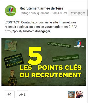 Google+ Armée de Terre - France