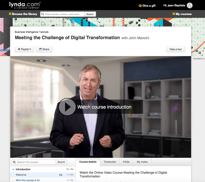 Online Course Lynda.com Digitale Tranformation
