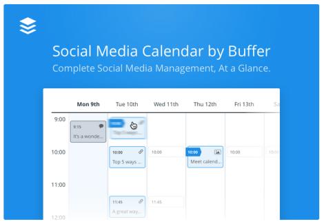 Calendrier de planification réseau sociaux Buffer