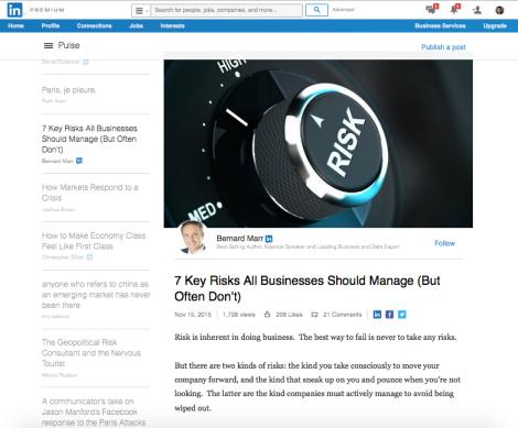 Pulse, le blog intégré à LinkedIn. Visibilité garantie.